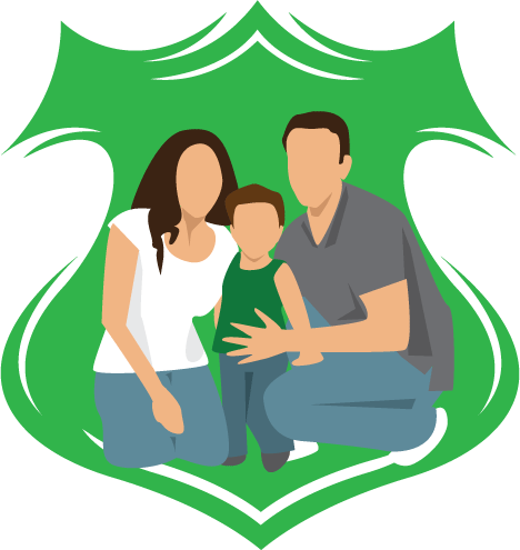 Insurance shield and family