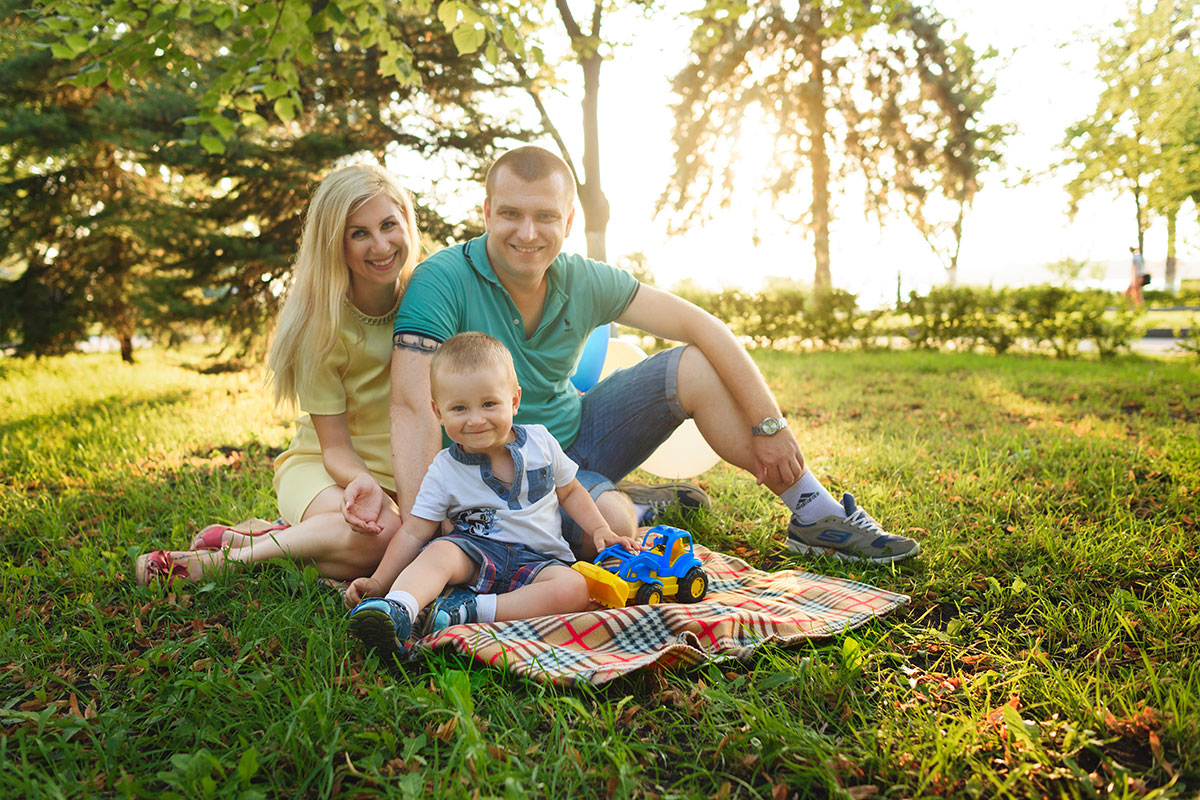 Family on Picnic Blanket