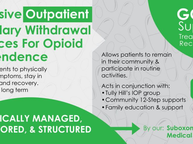 NEW!  Outpatient Ancillary Withdrawal Service for Opioids
